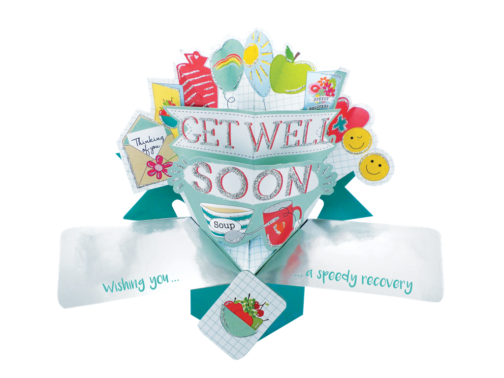 Get Well Soon Pop-Up Greeting Card | Cards