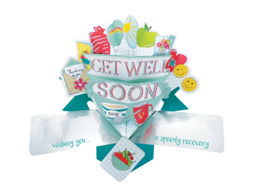 Get Well Soon Pop-Up Greeting Card