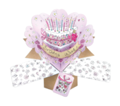 Birthday Wishes Pop-Up Greeting Card