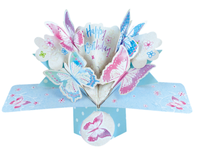 Birthday Butterfly Pop-Up Greeting Card