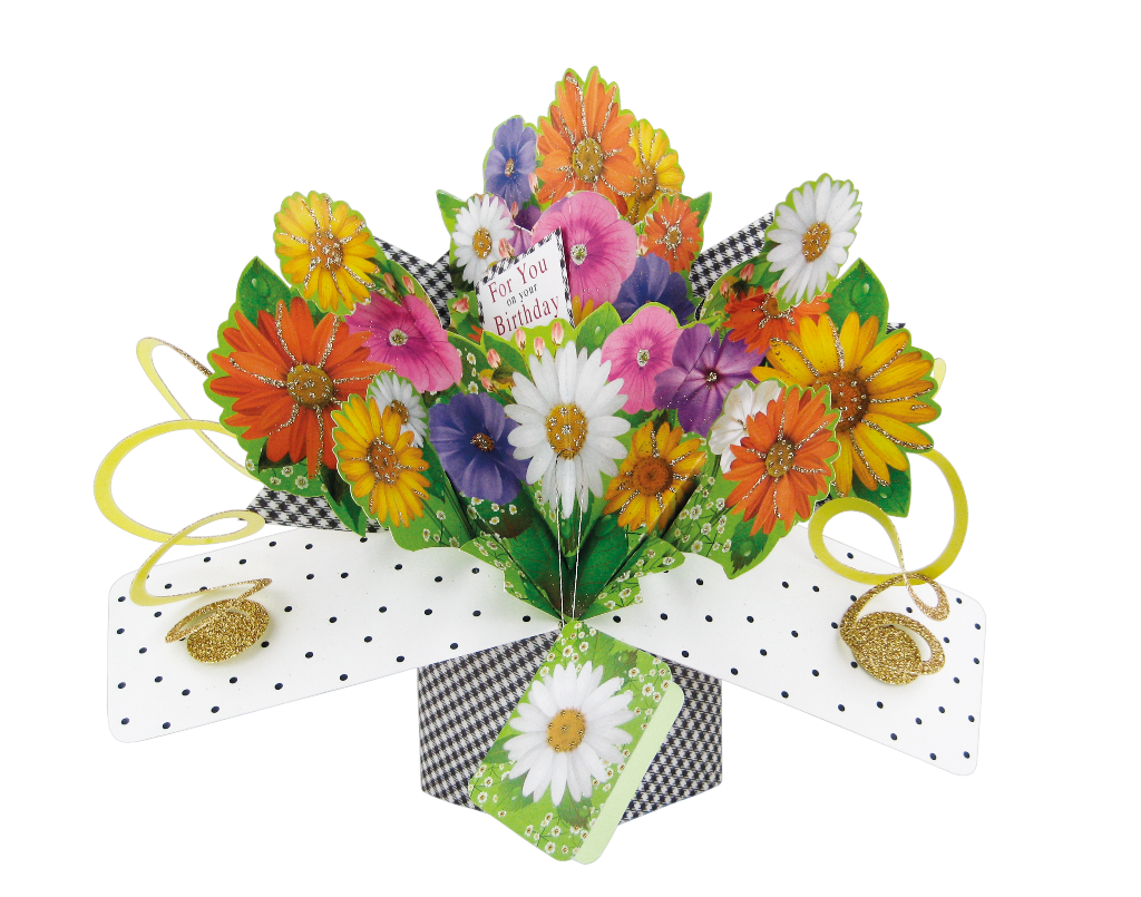 Birthday Flowers Pop Up Greeting Card Cards Love Kates