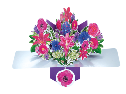 Bunch Flowers Pop-Up Greeting Card