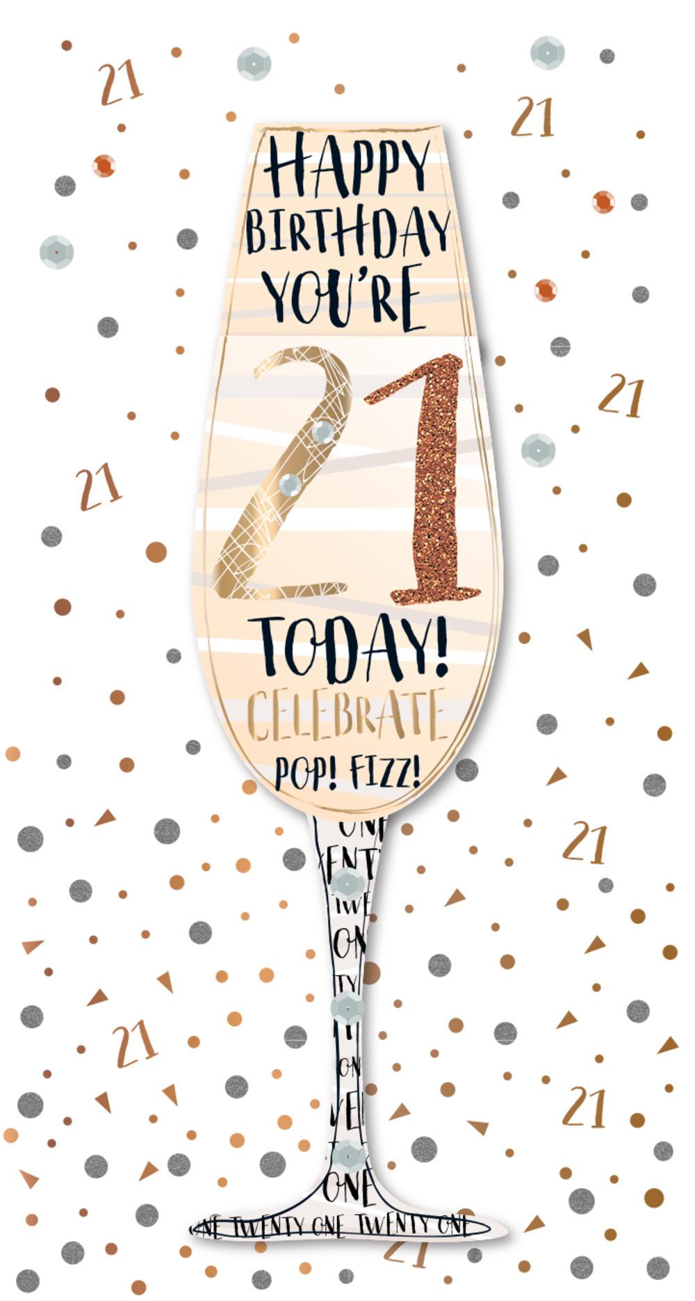 Happy 21st Birthday Images.Happy 21st Birthday Handmade Embellished Greeting Card