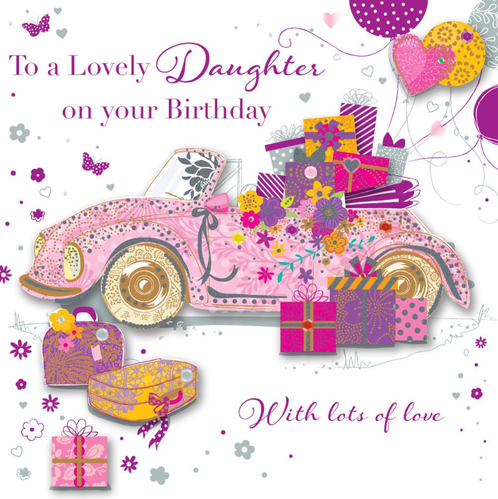 Daughter birthday handmade embellished greeting card cards love daughter birthday handmade embellished greeting card kristyandbryce Image collections