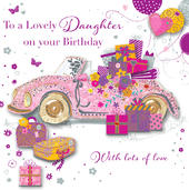 Daughter Birthday Handmade Embellished Greeting Card