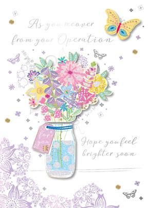 Lovely Wife Birthday Handmade Embellished Greeting Card