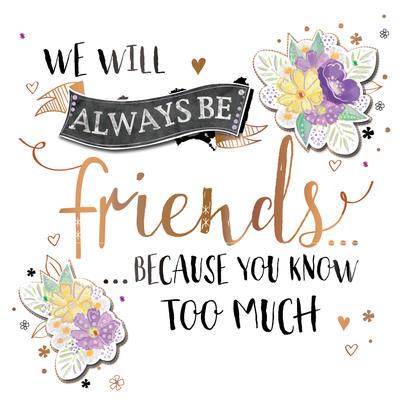 Friendship Handmade Embellished Greeting Card