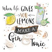 When Life Gives You Lemons Handmade Greeting Card