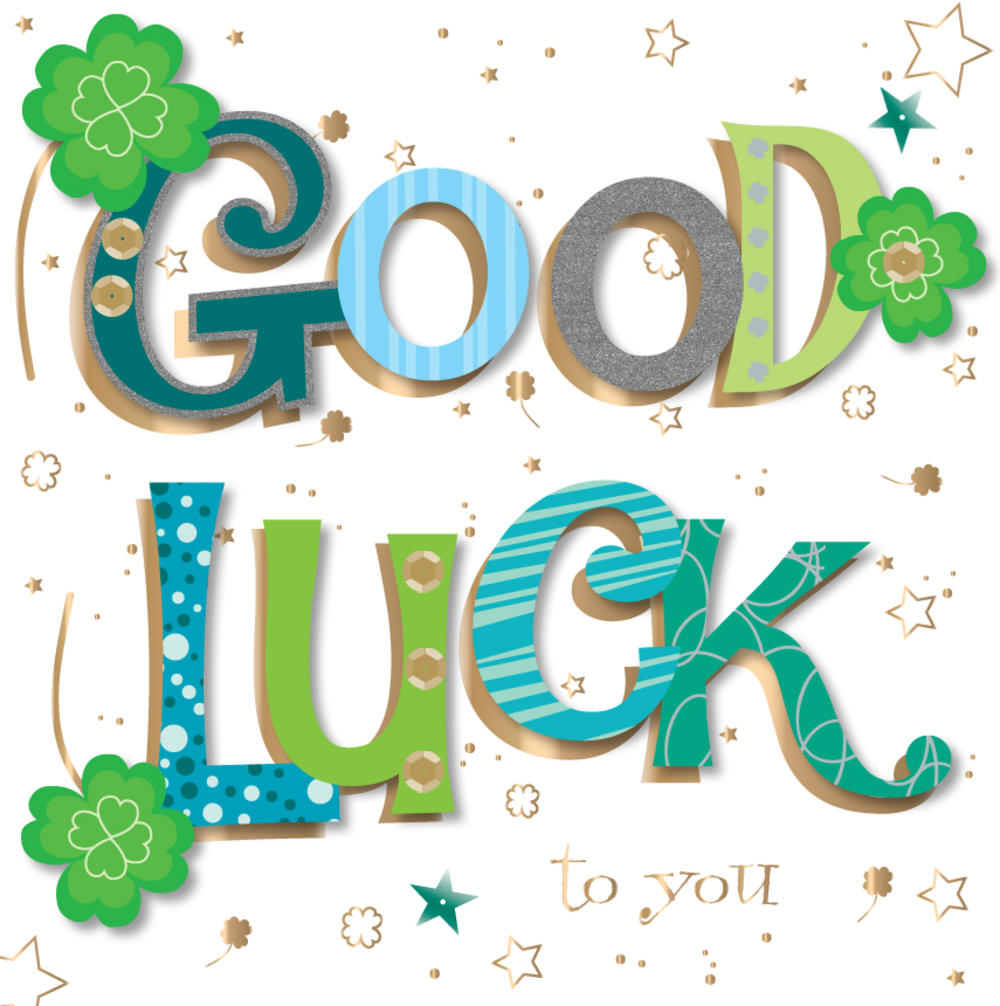 Good Luck Handmade Embellished Greeting Card