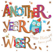 Another Year Older Birthday Greeting Card