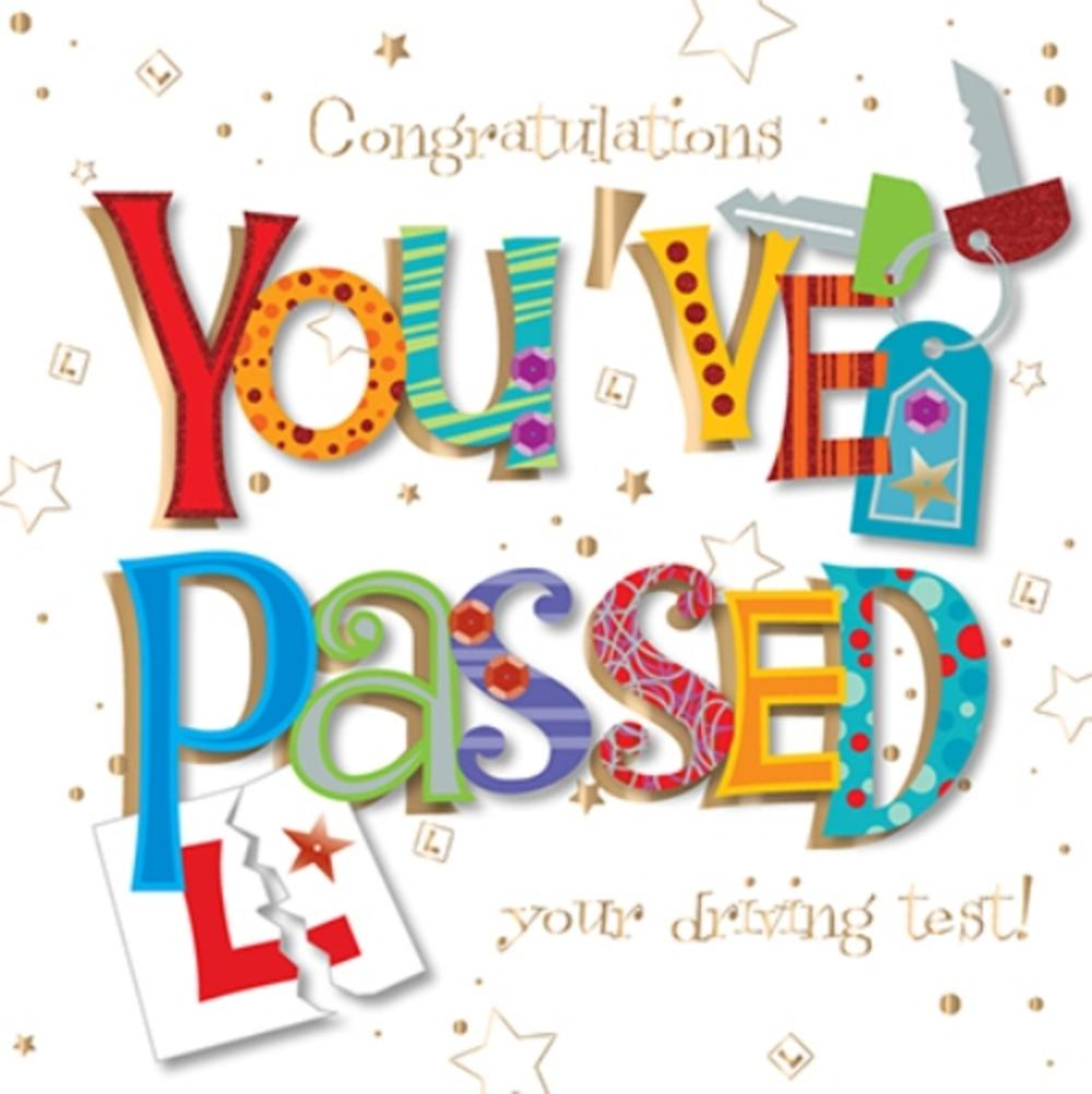 You've Passed Driving Test Embellished Greeting Card