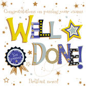 Well Done Passing Exams Embellished Greeting Card