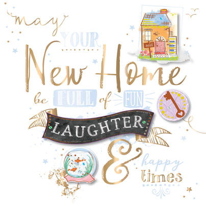 New Home Handmade Embellished Greeting Card