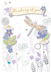 Thinking Of You Embellished Greeting Card