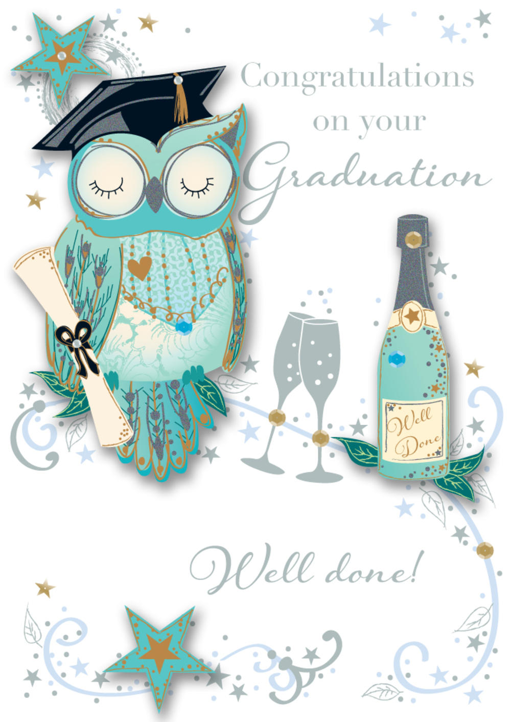 Graduation Embellished Greeting Card