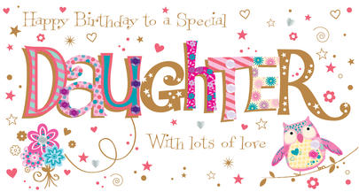 Daughter Birthday Handmade Embellished Greeting Card