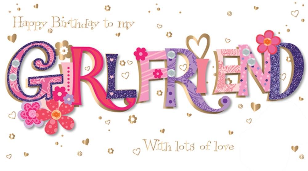 Girlfriend birthday handmade embellished greeting card cards girlfriend birthday handmade embellished greeting card m4hsunfo