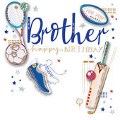 Brother Birthday Handmade Embellished Greeting Card