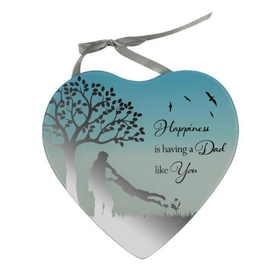 Having A Dad Like You Reflections From The Heart Mirrored Hanging Plaque