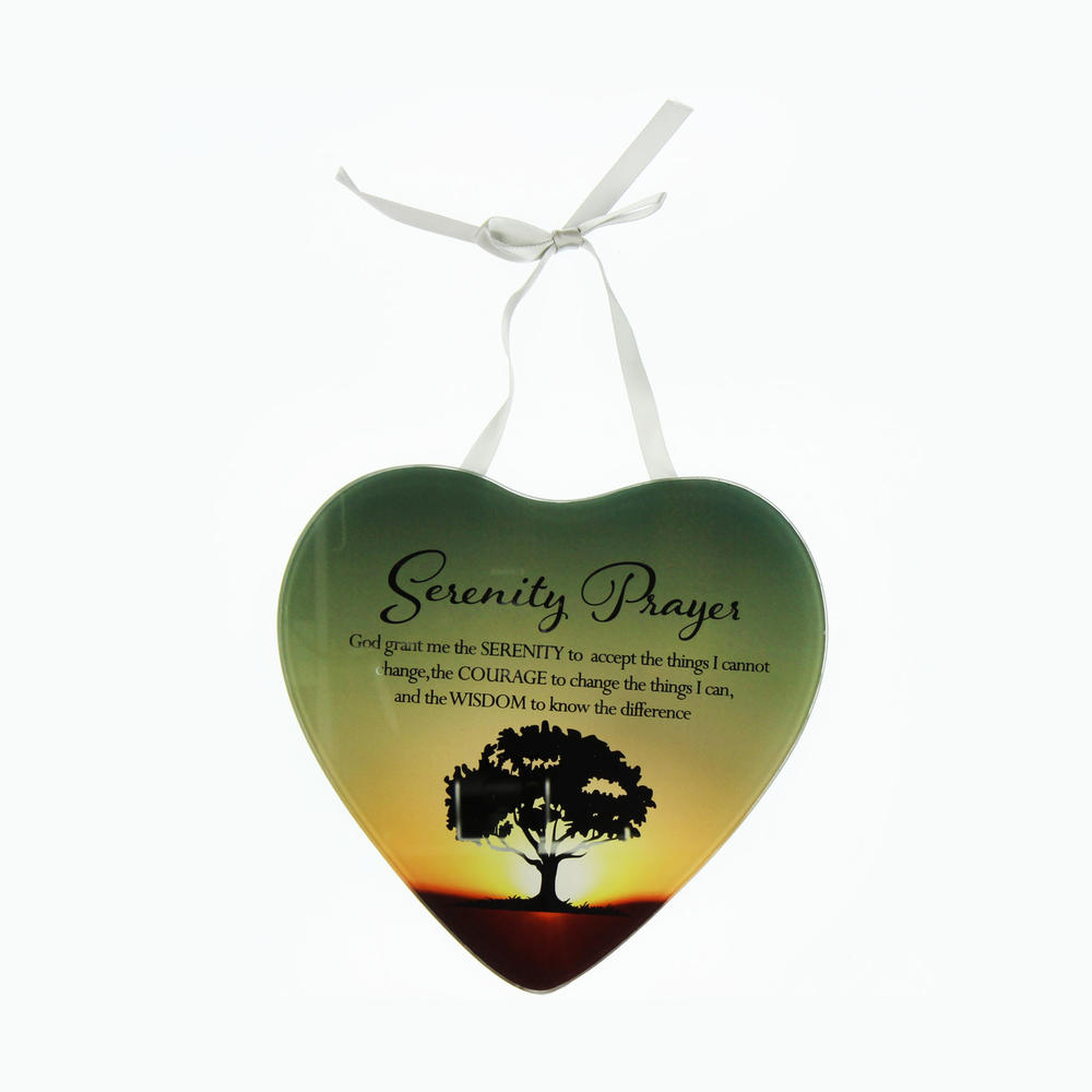 Serenity Prayers Reflections From The Heart Mirrored Hanging Plaque