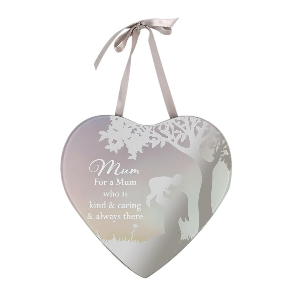 Kind & Caring Mum Reflections From The Heart Mirrored Hanging Plaque