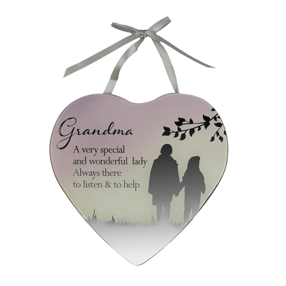 Special Grandma Reflections From The Heart Mirrored Hanging Plaque