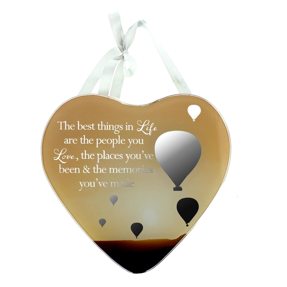 Best Things In Life Reflections From The Heart Mirrored Hanging Plaque