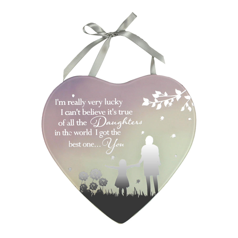 Best Daughter Reflections From The Heart Mirrored Hanging Plaque