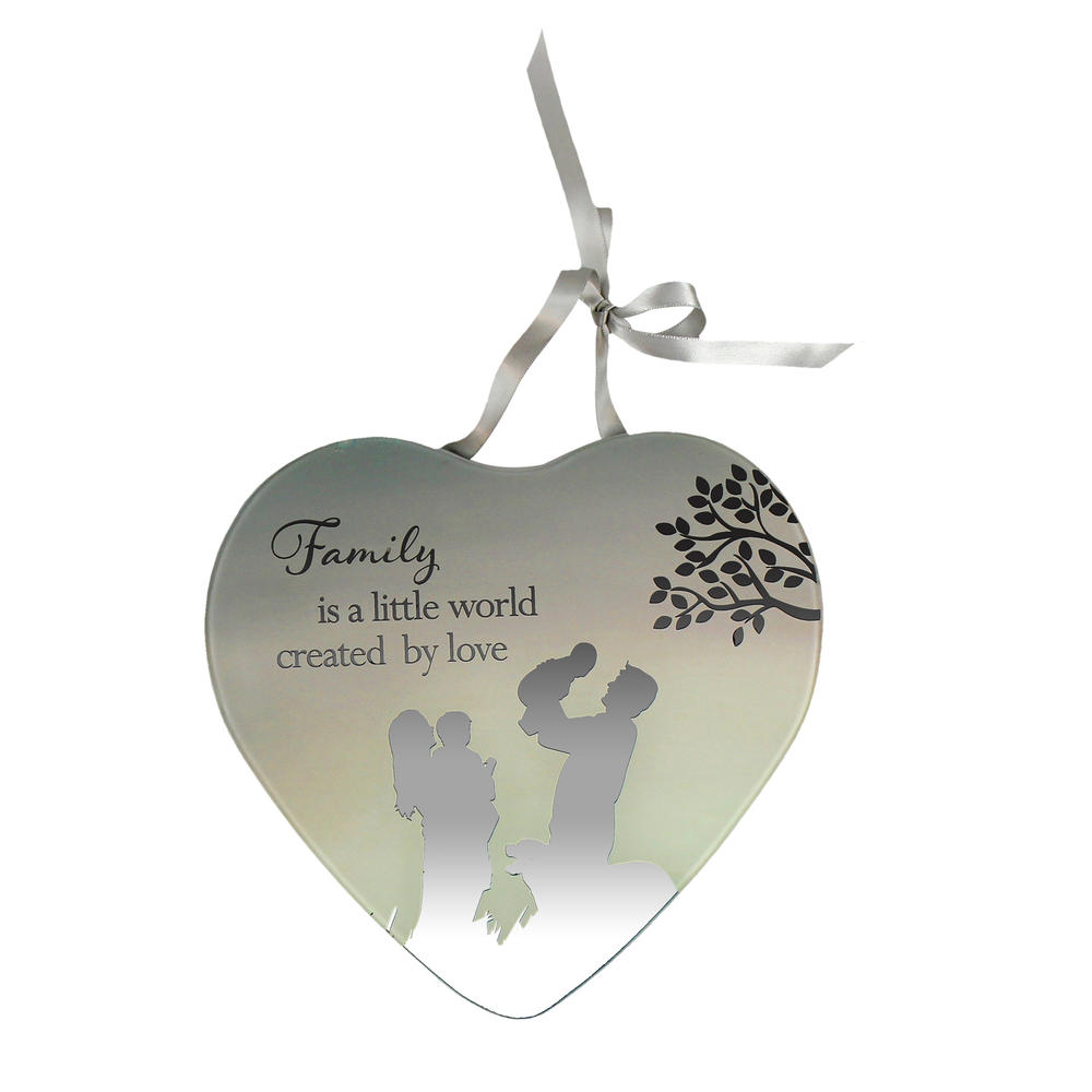 Family Created By Love Reflections From The Heart Mirrored Hanging Plaque