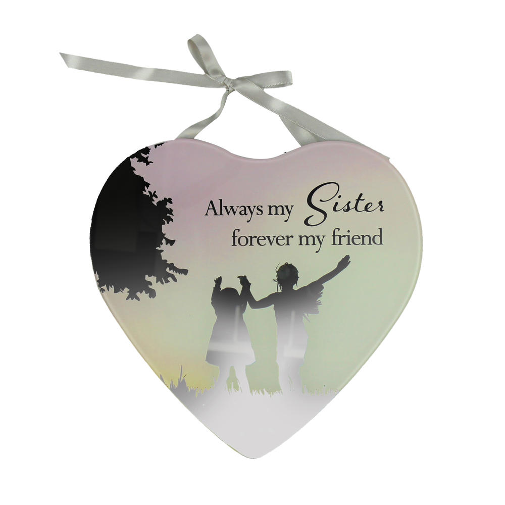 Sister & Friend Reflections From The Heart Mirrored Hanging Plaque
