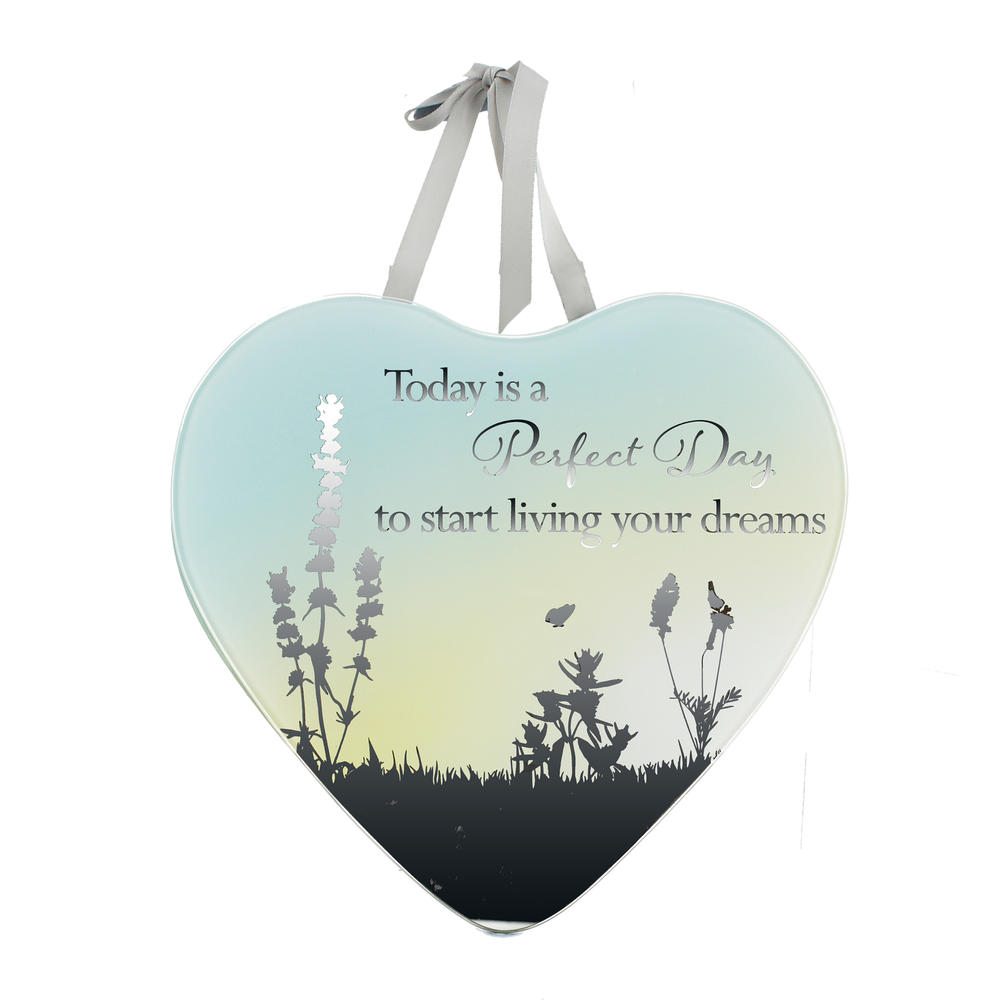 Start Living Your Dreams Reflections From The Heart Mirrored Hanging Plaque