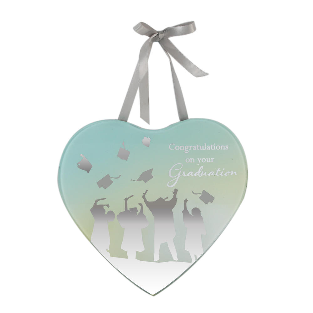Graduation Congratulations Reflections From The Heart Mirrored Hanging Plaque