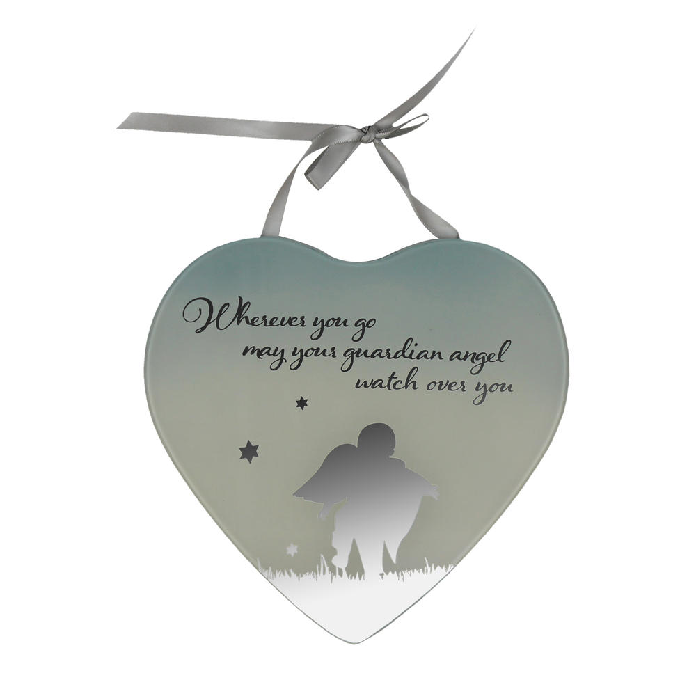 Guardian Angel Reflections From The Heart Mirrored Hanging Plaque