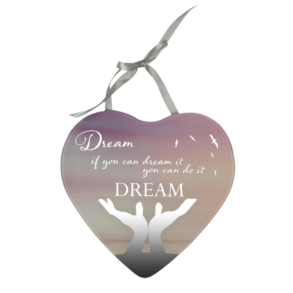 Dream You Can Do It Reflections From The Heart Mirrored Hanging Plaque