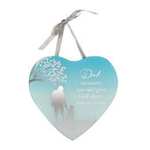 Dad From Daughter Reflections From The Heart Mirrored Hanging Plaque