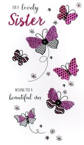 Lovely Sister Birthday Greeting Card