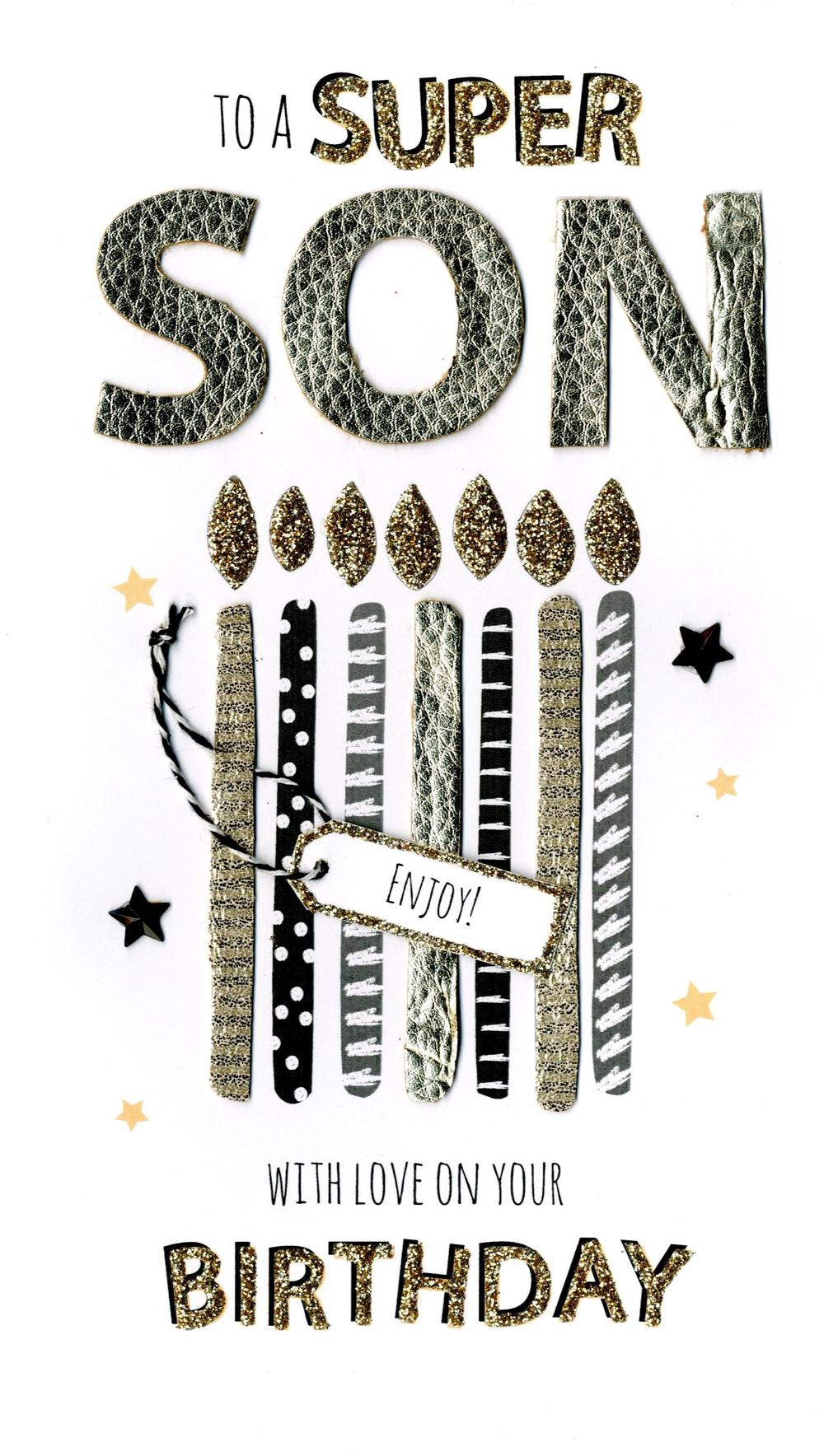Super Son Birthday Greeting Card