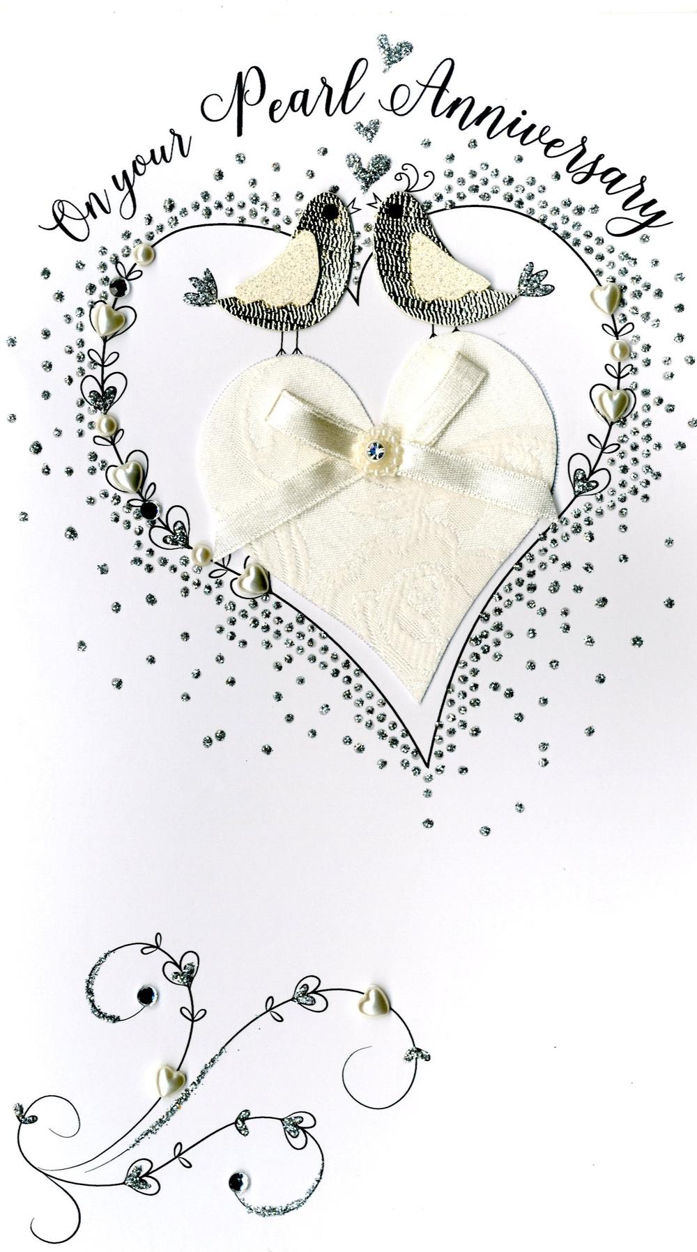 Pearl 30th Anniversary Greeting Card