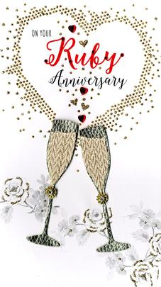 Ruby 40th Anniversary Greeting Card