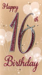 Happy 16th Birthday Greeting Card
