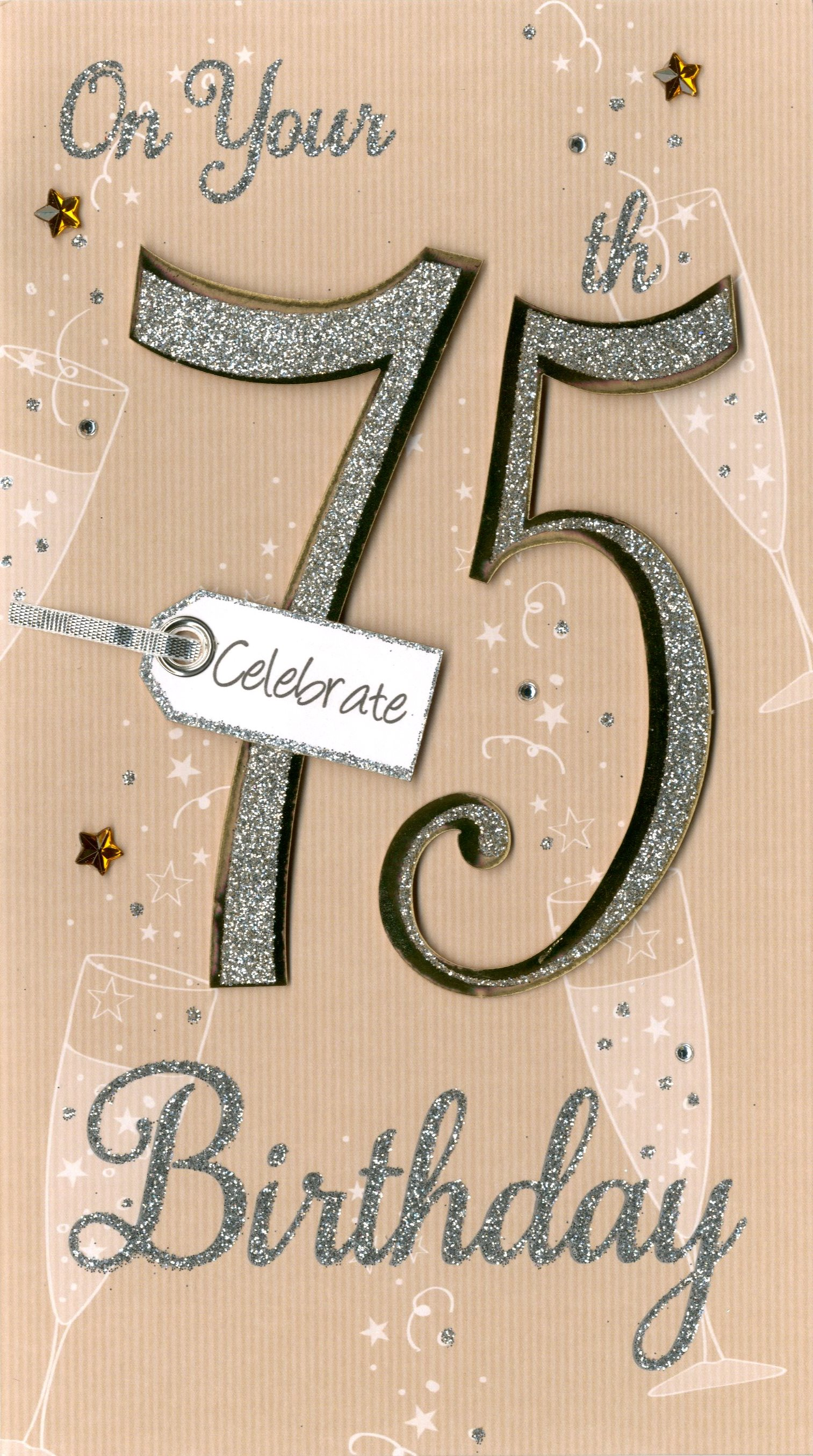 Happy 75th Birthday Greeting Card Cards Love Kates