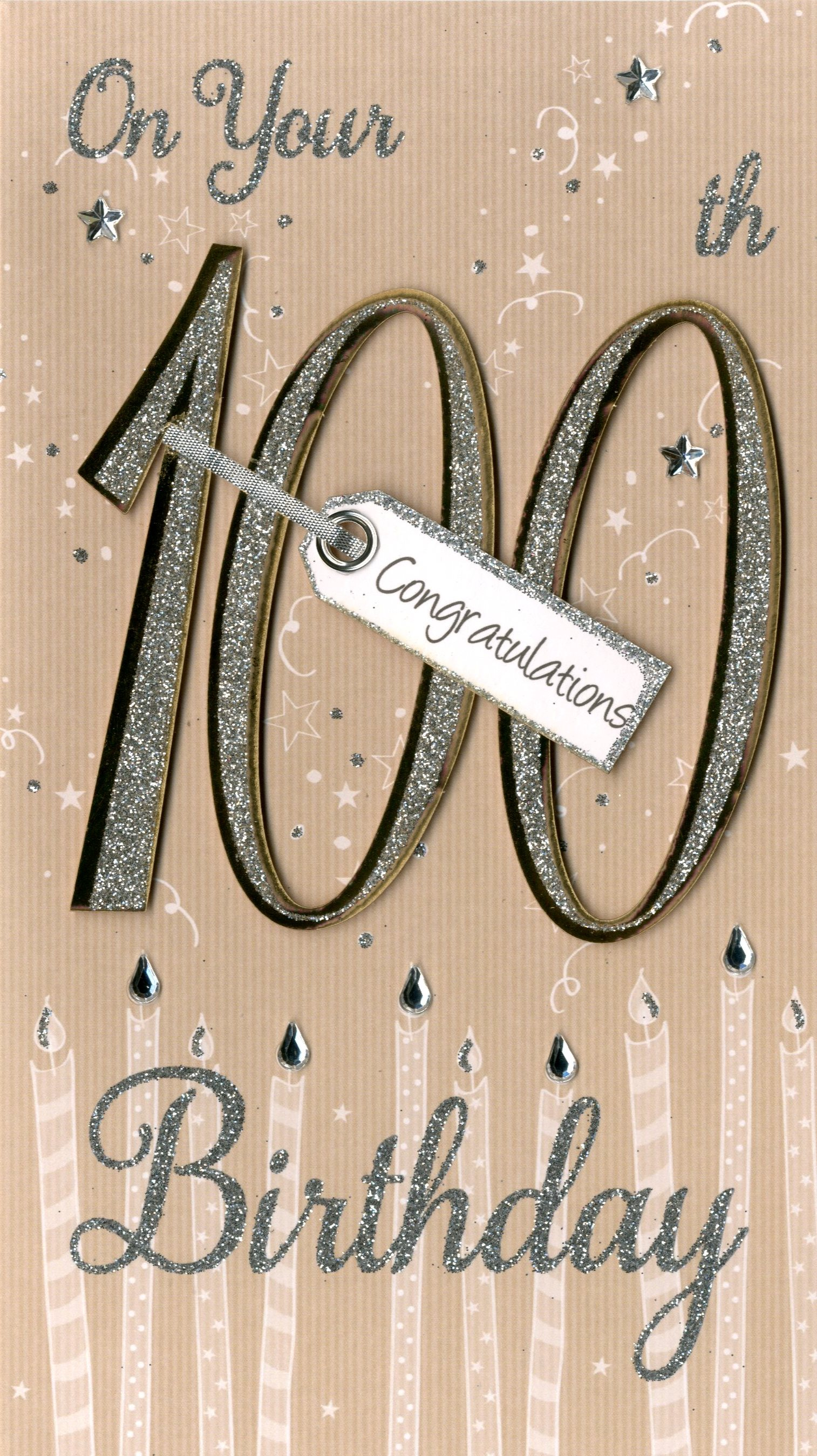 Happy 100th Birthday Greeting Card Cards Love Kates