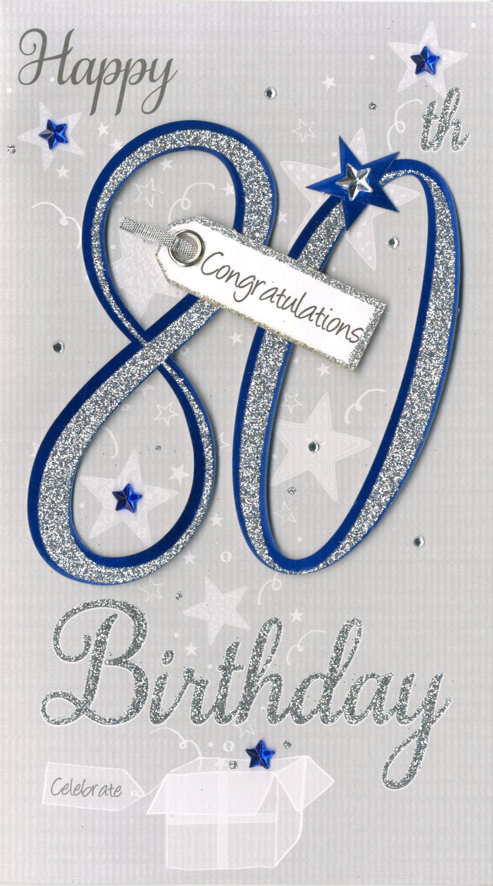 Happy 80th Birthday Greeting Card
