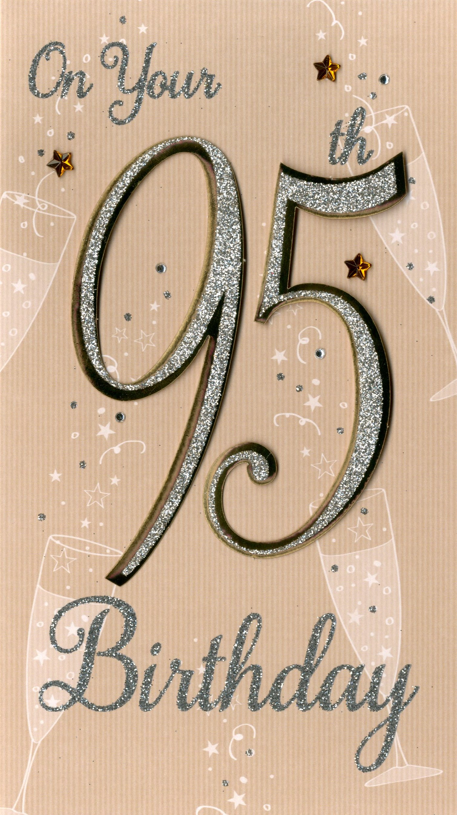 Happy 40th Birthday Greeting Card Hand Finished Champagne Range Cards Feesten Speciale Gelegenheden