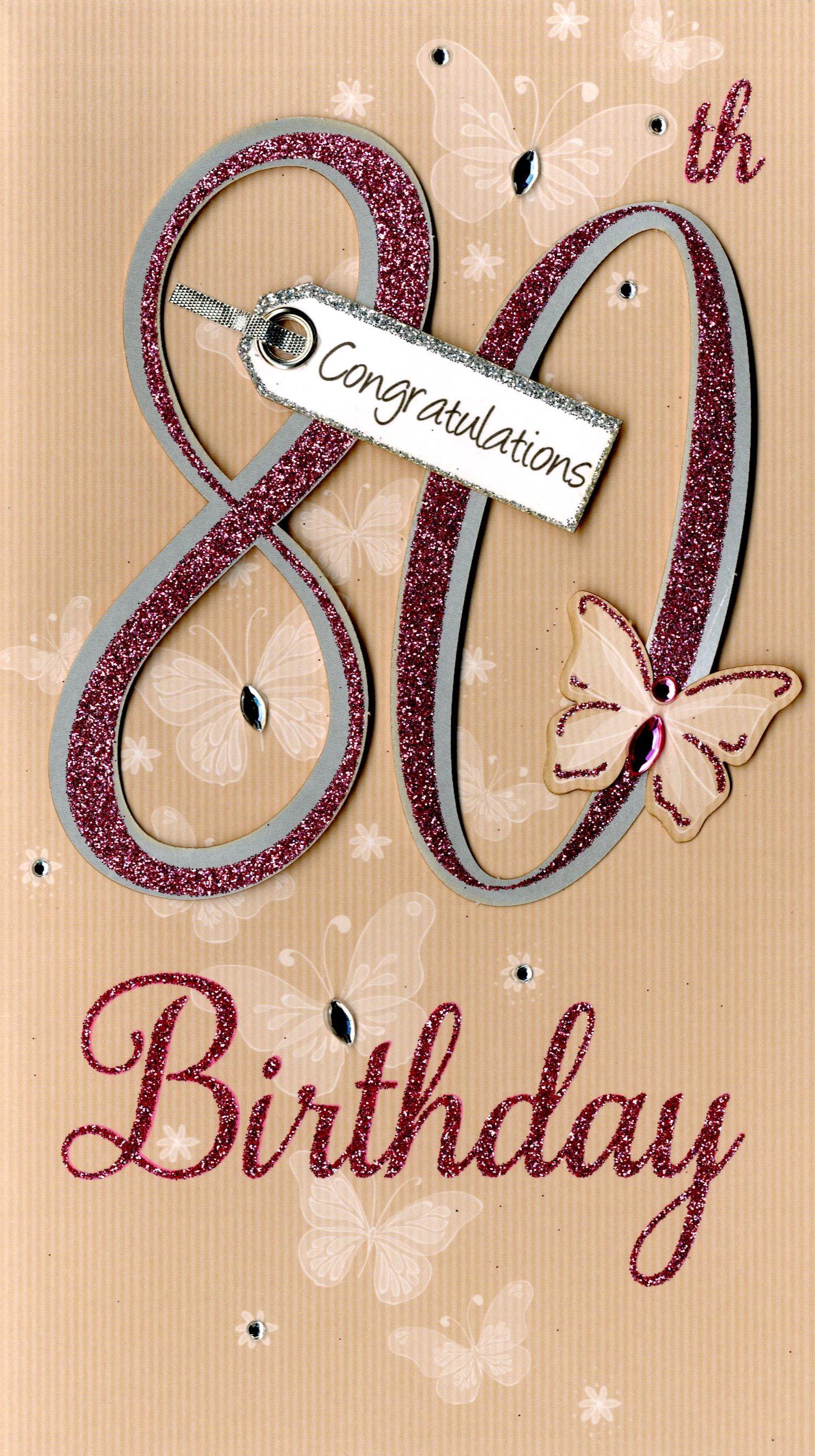 Happy 80th birthday greeting card cards love kates happy 80th birthday greeting card bookmarktalkfo Choice Image