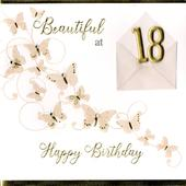 Beautiful At 18 18th Birthday Greeting Card
