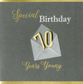 Special 70th Birthday Greeting Card