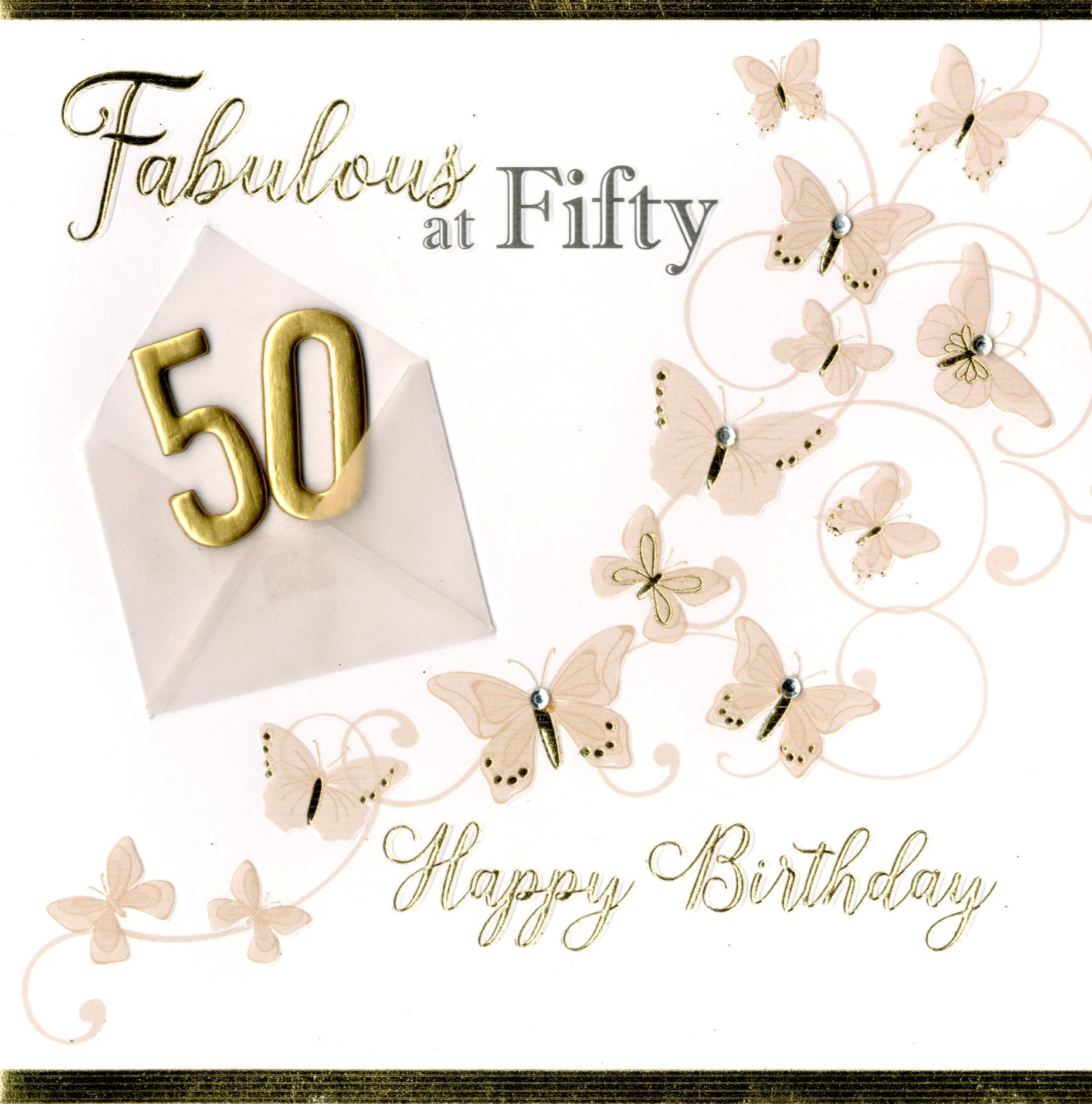 Fabulous At 50 50th Birthday Greeting Card Cards Love Kates