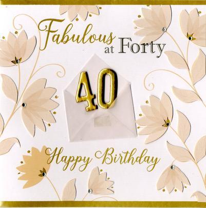 Fabulous At 40 40th Birthday Greeting Card