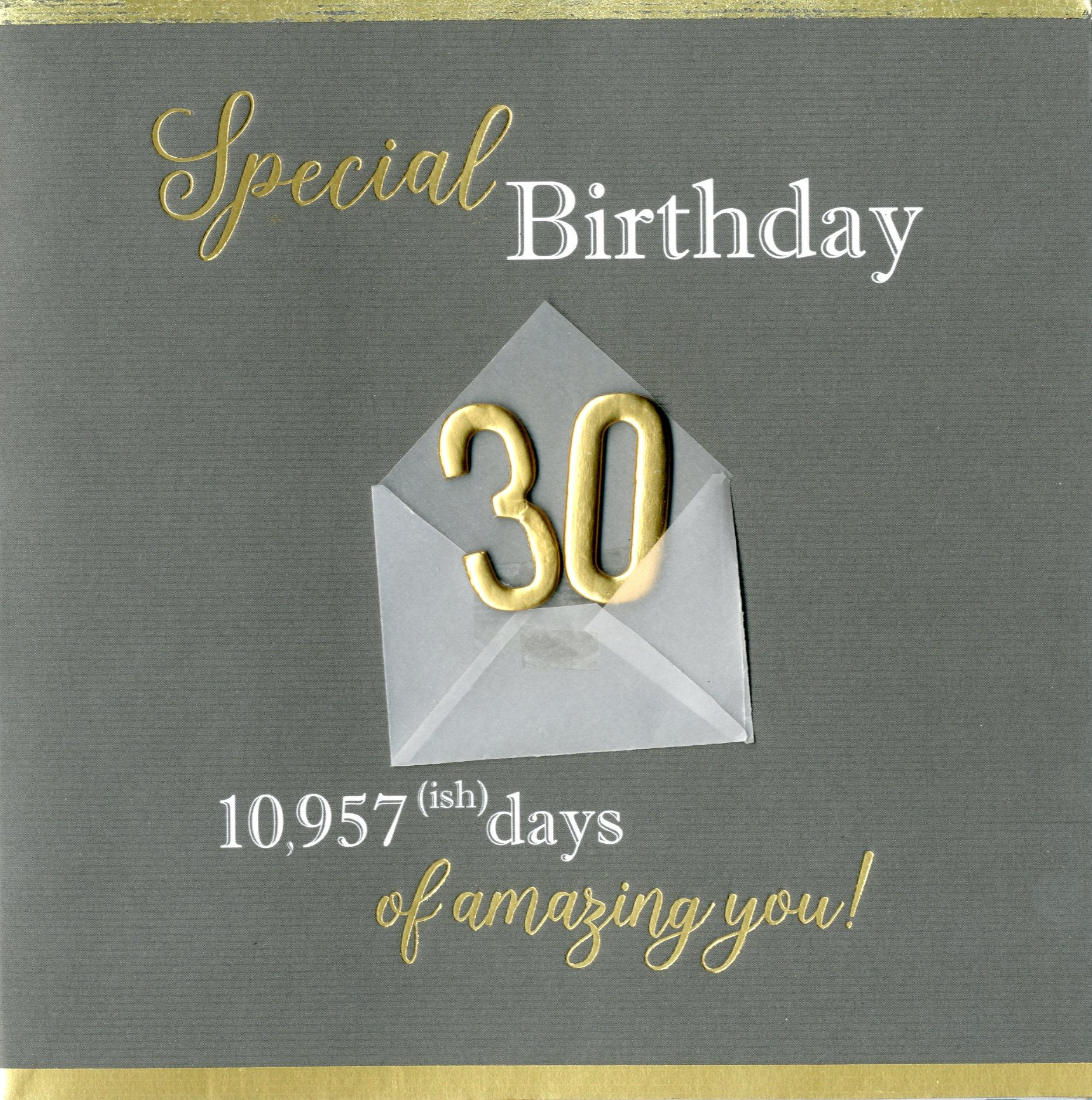 Special 30th birthday greeting card cards love kates special 30th birthday greeting card kristyandbryce Choice Image
